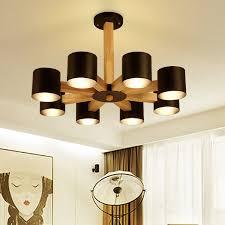 e27 bulb retro wood light pendant
