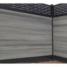 Veranda 0 41 Ft X 5 91 Ft Euro Style Oxford Grey Tongue And Groove Composite Fence Board Ef 00200 The Home De Modern Fence Design Fence Design Fence Panels