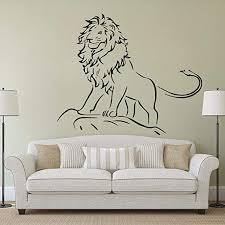 Amazon Com Zdduu Wall Decal Kids Boys Room Decor Of The Jungle Wall Art Mural Removable Forest Animal Vinyl Stickers 68 57 Cm Home Kitchen
