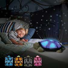 Turtle Led Night Light Star Projector Musical Lamp Baby Kids Bedroom Decor Gift Wish
