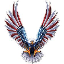 American Eagle Flag Wings Decal American Flag Sticker American Flag Decal American Flag Sticker Decals