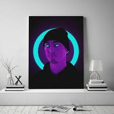 Best Offer 33ef7 Joji Neon Pop Art Poster Canvas Wall Art Decoration Prints For Living Kid Children Room Home Bedroom Decor Painting Cicig Co