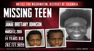 MISSING PERSON • Janae Brittany Johnson • Washington, D.C. • 14 Years Old