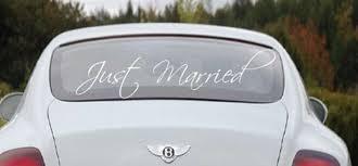 Just Married Window Decal Sticker Wedding Decal