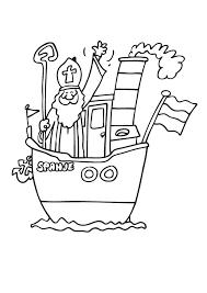 Kleurplaat Sinterklaas Stoomboot 2020 Voor Peuters En Kleuters