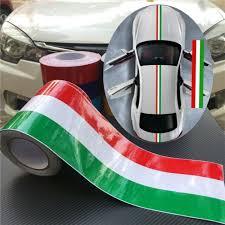 197 Italy Flag Car Racing Hood Stripes Vinyl Decal Sticker For Universal Car 5m For Sale Online Ebay