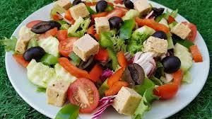 greek salad with homemade feta cheese