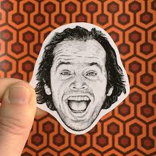 The Shining Jack Torrance Vinyl Laptop Sticker Phone Decal Etsy In 2020 Phone Decals The Shining Ink Drawing