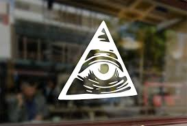 Amazon Com 25 Centimeters Illuminati All Seeing Eye Vinyl Stickers Funny Decals Bumper Car Auto Computer Laptop Wall Window Glass Skateboard Snowboard Sports Outdoors