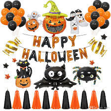 Happy Halloween Balloons Set Halloween Party Decorations Charm Foil Balloon  Pumpkin Cat Bat Paper Tassels Party Supplies JK1909 Pirate Party  Decorations Pirate Party Supplies From Santi, $2.37| DHgate.Com
