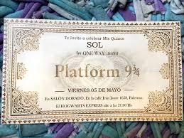Invitacion Imprimible Cumpleanos 15 Anos Fiesta Harry Potter