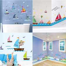 Zs Sticker Boat Wall Stickers Children Room Home Decor Boat Vinyl Kids Room Decal Baby Room Nursery Decor Wall Stickers Aliexpress
