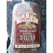 oroweat 100 whole wheat whole grain