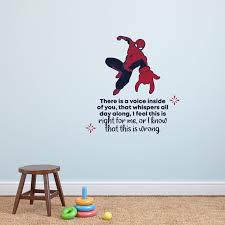 Design With Vinyl Spiderman Voice Inside Vinyl Wall Decal Wayfair