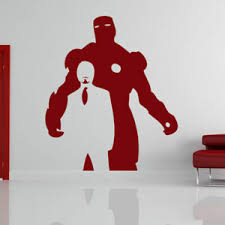 Iron Man Tony Stark Avengers Superhero Wall Art Sticker Vinyl Decal As10067 Ebay