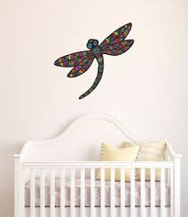 Clr Wall Patterned Dragonfly Vinyl Wall Decal C Yydc 17 W X 16 H Colors Ebay
