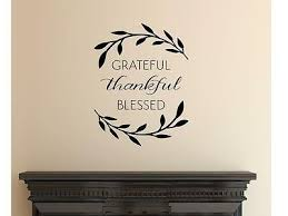 Grateful Thankful Blessed Wall Art Decal Quote Words Lettering Decor 5002321361285 Ebay