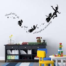 Tinkerbell Second Star To The Right Peter Pan Kids Room Wall Sticker Decal Mural