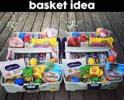 basket gifts tackle box easter basket