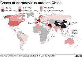 Coronavirus maps and charts: A visual guide to the outbreak - BBC News