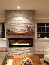 natural stone barn beam mantel