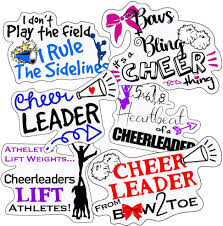 Amazon Com Cheer Stickers Perfect Stickers For Cheerleading Waterproof Durable 100 Vinyl Anywhere You Need Cheer Stickers For Water Bottles Laptop Car Decal Party Giveaways Arts Crafts Sewing