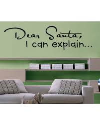 Amazing Deal On Dear Santa Vinyl Wall Decal Hd024 Navy Blue 18 In