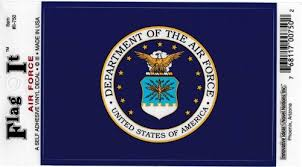 U S Air Force Large Vinyl Decal Sticker