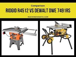 Ridgid R4512 Vs Dewalt Dwe 7491rs Reviews Comparison 2019 Machine Fanatic