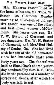 Rhoda Minerva Smith Staton (1826-1906) - Find A Grave Memorial