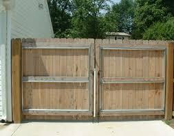 Cedar Double Drive Gate With Steel Reinforced Frame Wooden Fence Gate Wood Gate Wooden Gates Driveway