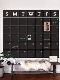 Chalkboard Calendar Wall Decal Extra Large Contemporary Wall Decals By Simple Shapes