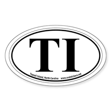 Topsail Island North Carolina Ti Oval Car Decal Beach Towns Oval Bumper Stickers By Ovalstickers Net