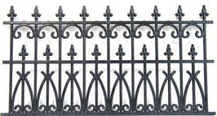Dollhouse Black Ornate Fence Nwc100 Just Miniature Scale