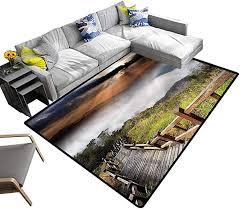 Amazon Com Nature Home Decor Rug Hazy Foggy Sky Italian Baby Floor Playmats Crawling Mat For Kids Living Room Nursery Home Decor 4 X 6 Kitchen Dining