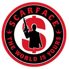 Scarface The World Is Yours Vinyl Sticker At Sticker Shoppe
