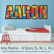 Childrens Name Wall Stickers Personalised Blocks Perfect For Boys Girls Bedroom Ebay