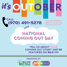 National Coming Out Day on October 11, 2018 - KCSU FM