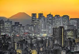 Mt Fuji With Tokyo Skyline At Dusk 19984265 Framed Prints Wall Art