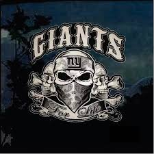 Ny Giants For Life Full Color Outdoor Decal Sticker Custom Sticker Shop