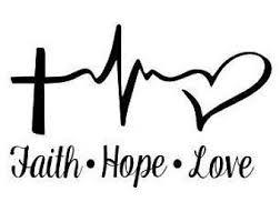 Faith Hope Love Custom Window Decal Tumbler Decal Laptop Decal Car Decal Faith Hope Love Gift Diy Custom Decal Faith Hope Love Tattoo Faith Tattoo Tattoos