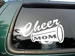 Amazon Com Cheer Mom Die Cut Vinyl Window Decal Sticker For Car Or Truck 5 X 3 Automotive