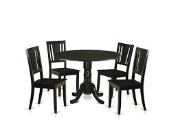 East West Furniture Dldu5 Blk W Dining Room Table Set With 4 Small Kitchen Table 4 Chairs Black 5 Piece Newegg Com