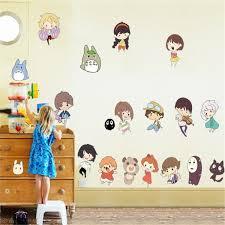 Hot Style Children Room Spirited Away And Totoro Wall Stick Hayao Miyazaki Anime Characters B Kids Room Wall Stickers Wall Stickers Cartoon Kids Room Wallpaper