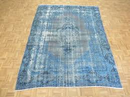 hand knotted fine overdyed blue persian