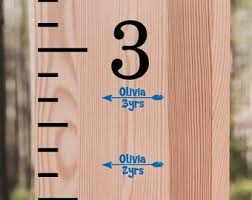 Growth Chart Decals Etsy