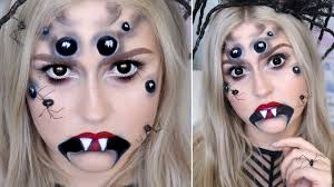 creepy spider halloween makeup