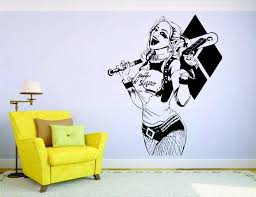 Suicide Squad Wall Decal Harley Quinn Vinyl Adhesive Art Mural Kids Room Wall Sticker Modern Home Decoration Accessories Wall Sticker Home Wall Sticker Home Decor From Onlinegame 13 12 Dhgate Com