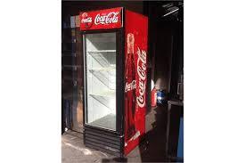 single door coca cola fridge no vat