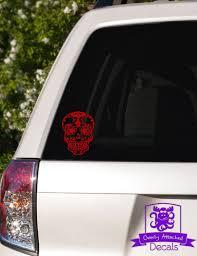 Sugar Skull Car Window Decal Etsy